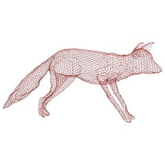 Red Fox in Wire Mesh by Benedetta Mori Ubaldini