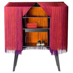 Red Fringe Bar / Cabinet Large, Made in France