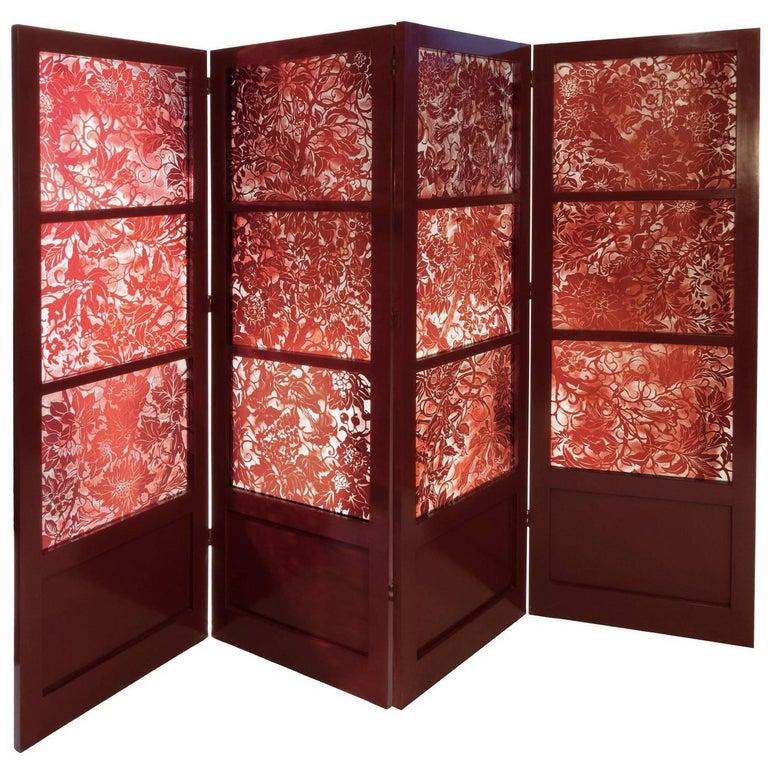Red Glass Screen