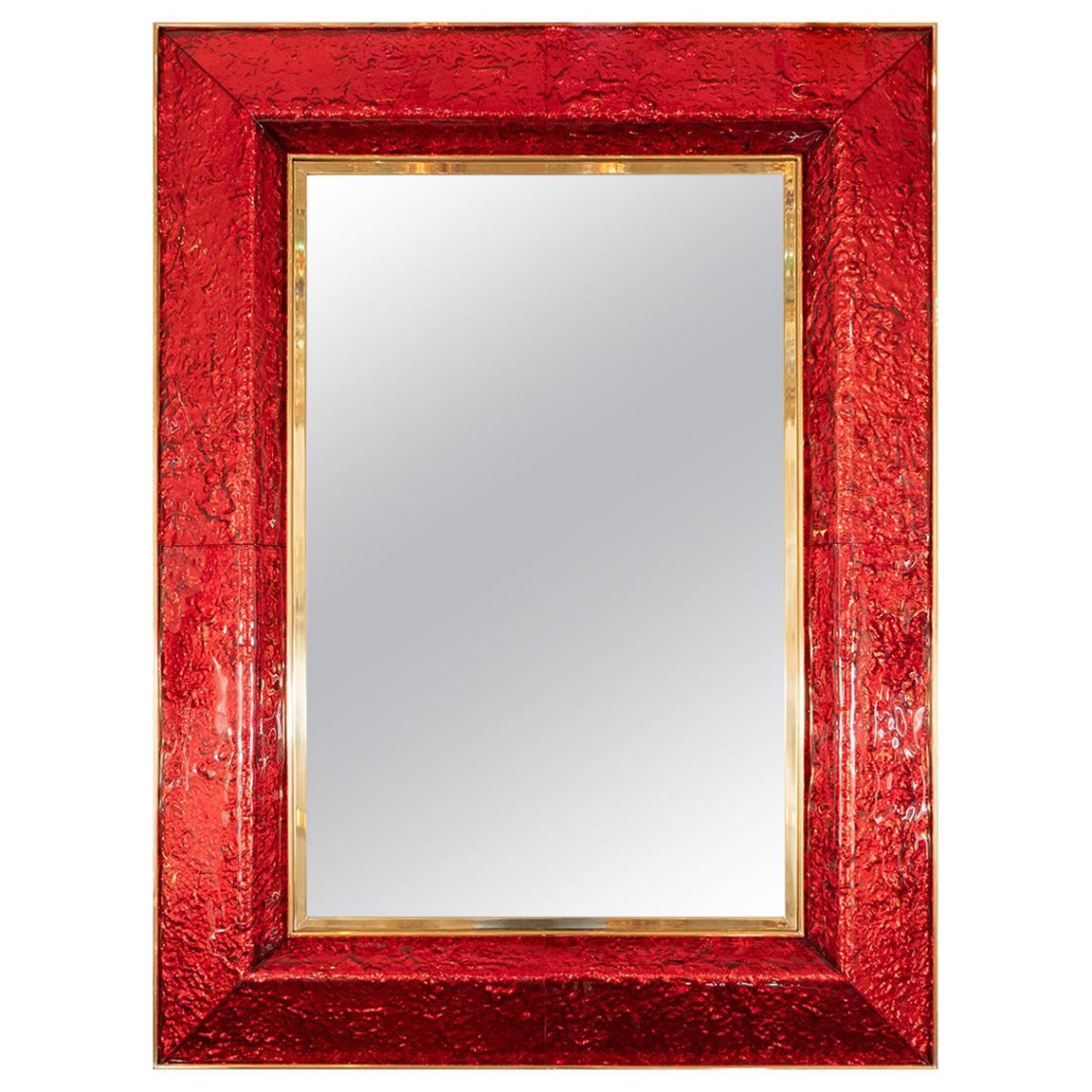 Textured Murano Glass Surround Mirror