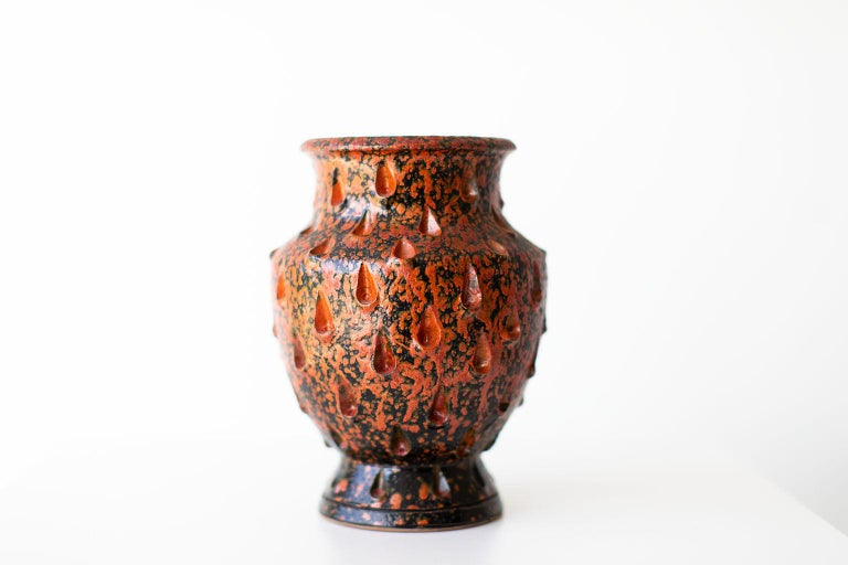 Red Glazed Italian Vase For Sale 1