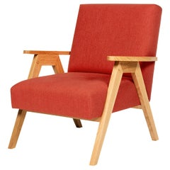 Red Goblin Armchair in Oak