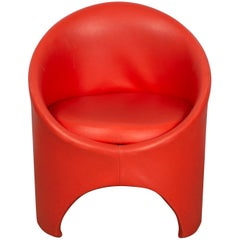 Red 'Gogo' Tub Chair by Roger Bennett for Evans High Wycombe, England