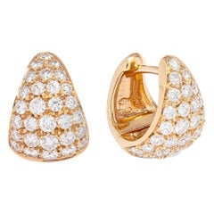Red Gold Earrings with Diamonds 1.16 Carat