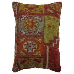 Red Green Orange Turkish Rug Pillow
