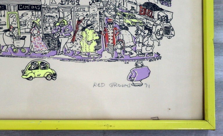 Late 20th Century Red Grooms City Discount Store 1971 Screenprint Hand