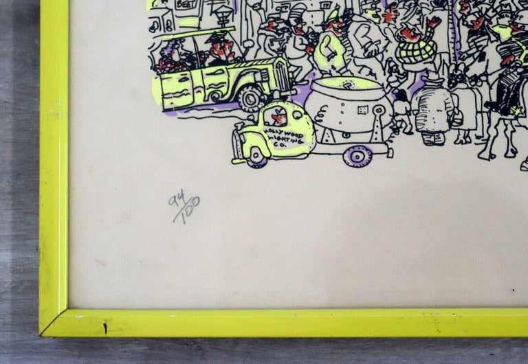 Paper Red Grooms City Discount Store 1971 Screenprint Hand