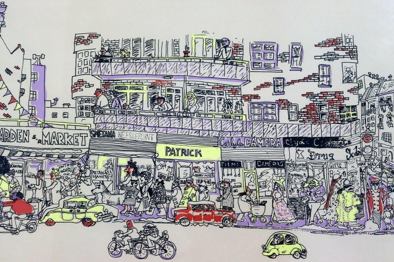 Red Grooms City Discount Store 1971 Screenprint Hand 1