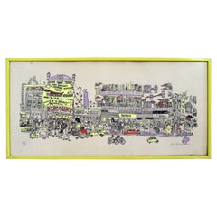 Red Grooms City Discount Store 1971 Screenprint Hand