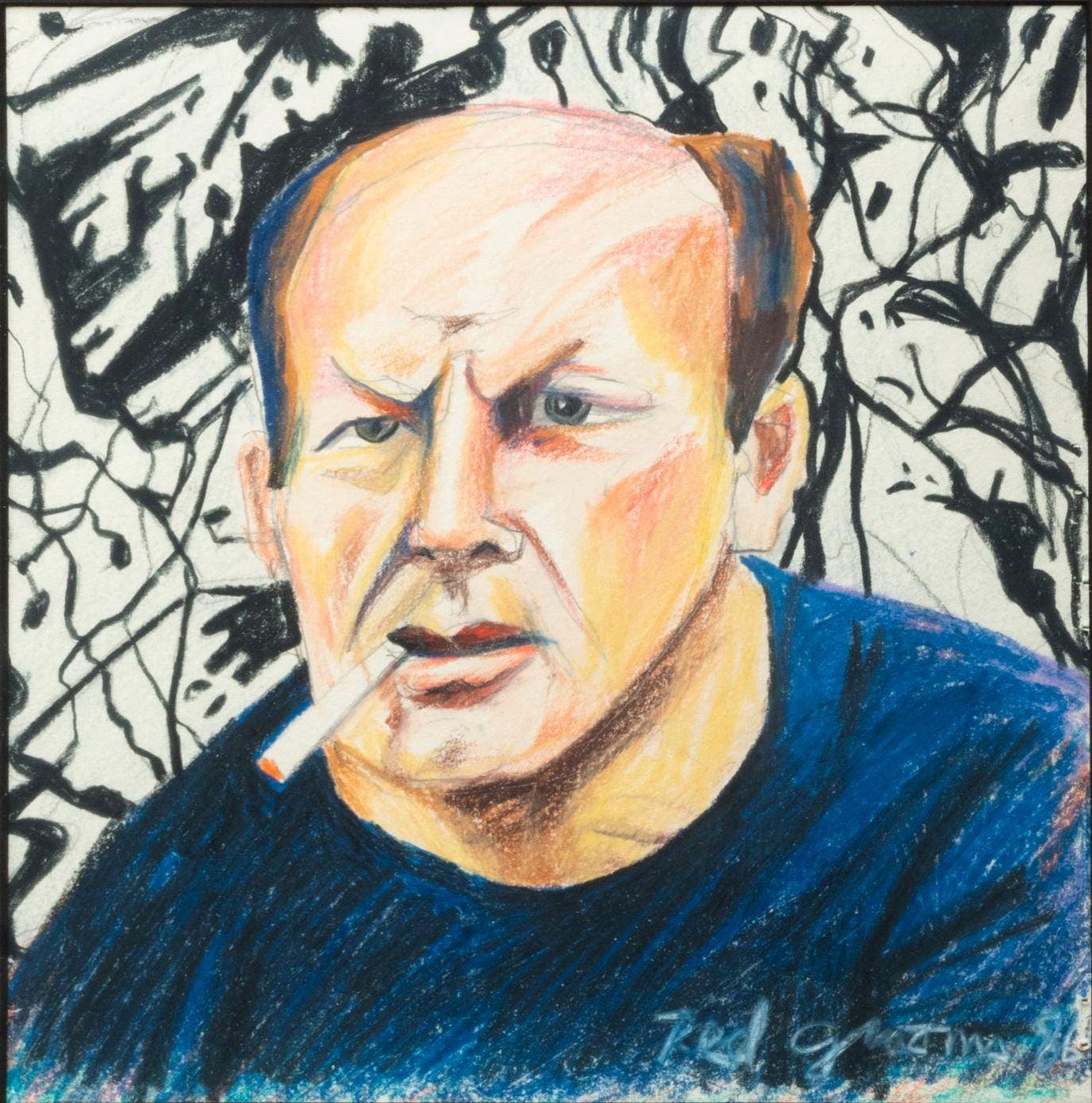 """""""Jackson Pollock,"""" Red Grooms, New York School Pop Art Portrait"""