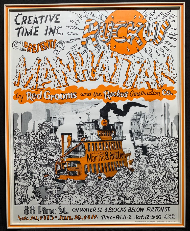 Creative Time Inc. Red Grooms exhibition poster - Print by Red Grooms
