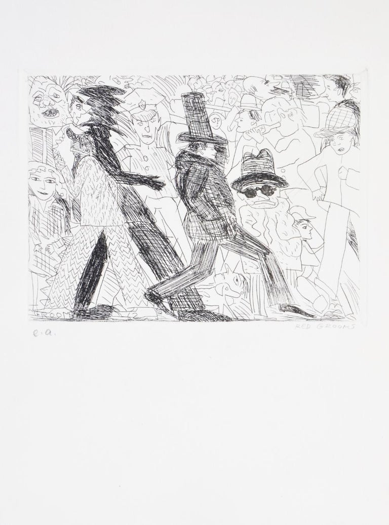 Red Grooms, Untitled, from The International Anthology of Contemporary Engraving - American Realist Print by Red Grooms