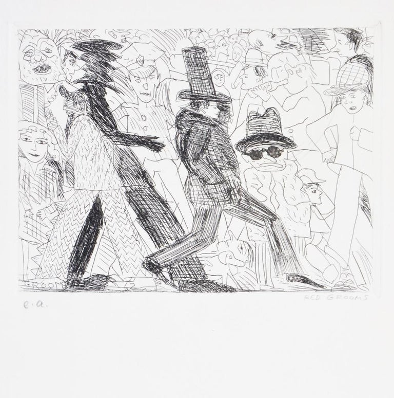 Red Grooms, Untitled, from The International Anthology of Contemporary Engraving - Print by Red Grooms