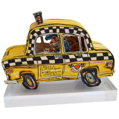 Red Grooms 'Ruckus Taxi' Folded 3-D Lithographic Sculpture
