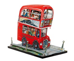London Bus, 3-D Lithograph Sculpture by Red Grooms