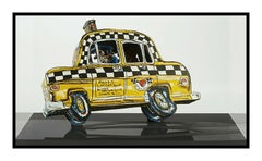 Red Grooms Ruckus Taxi 3D Color Lithograph Signed Modern Sculpture Construction