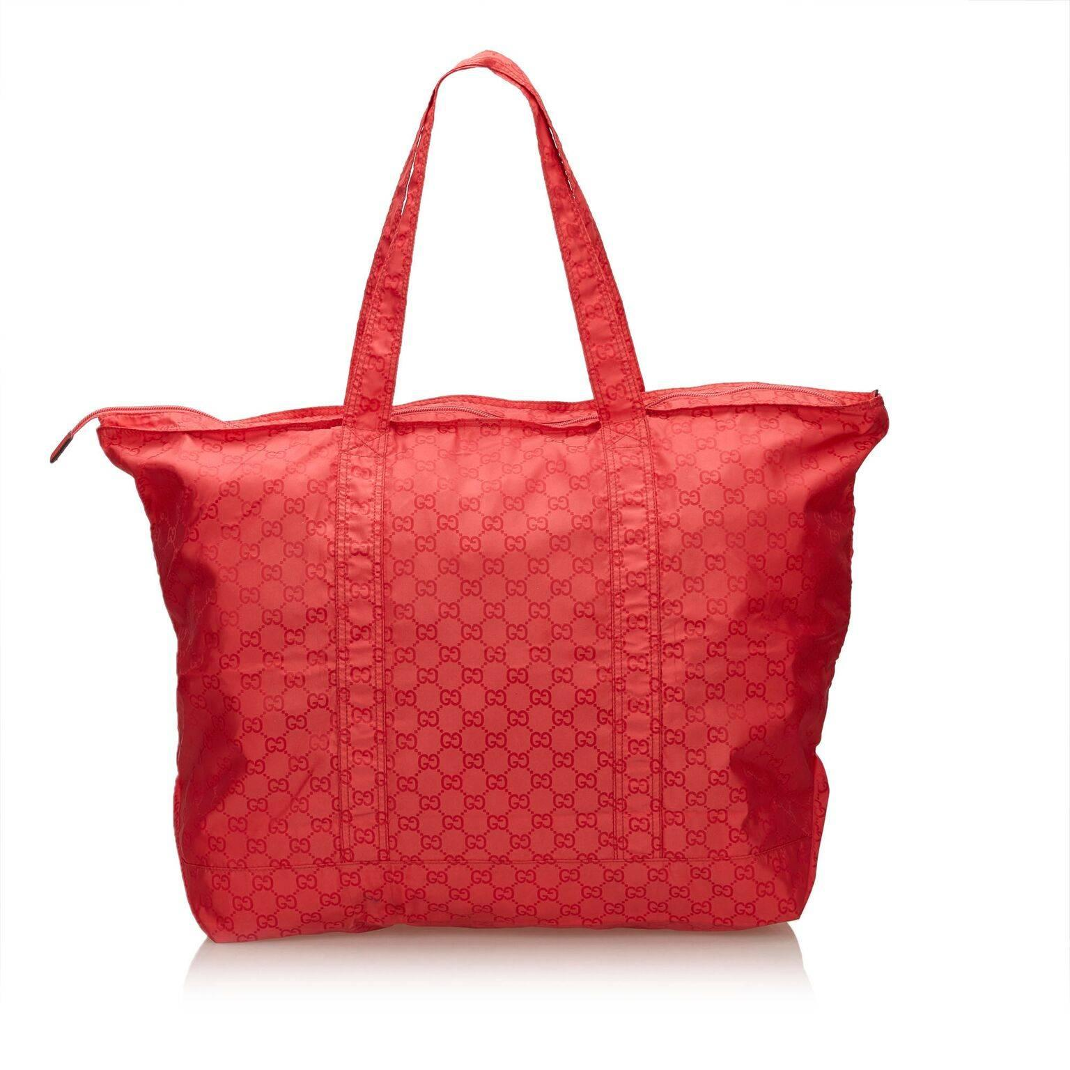 16777fba804 Gucci Guccissima Red Nylon Tote Bag For Sale at 1stdibs