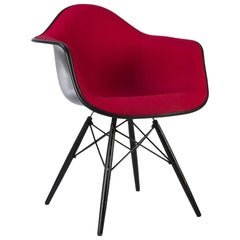 Red Herman Miller Eames Black DAW Dining Armchair