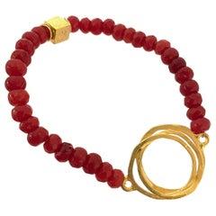 Red Jade I Love You Bracelet