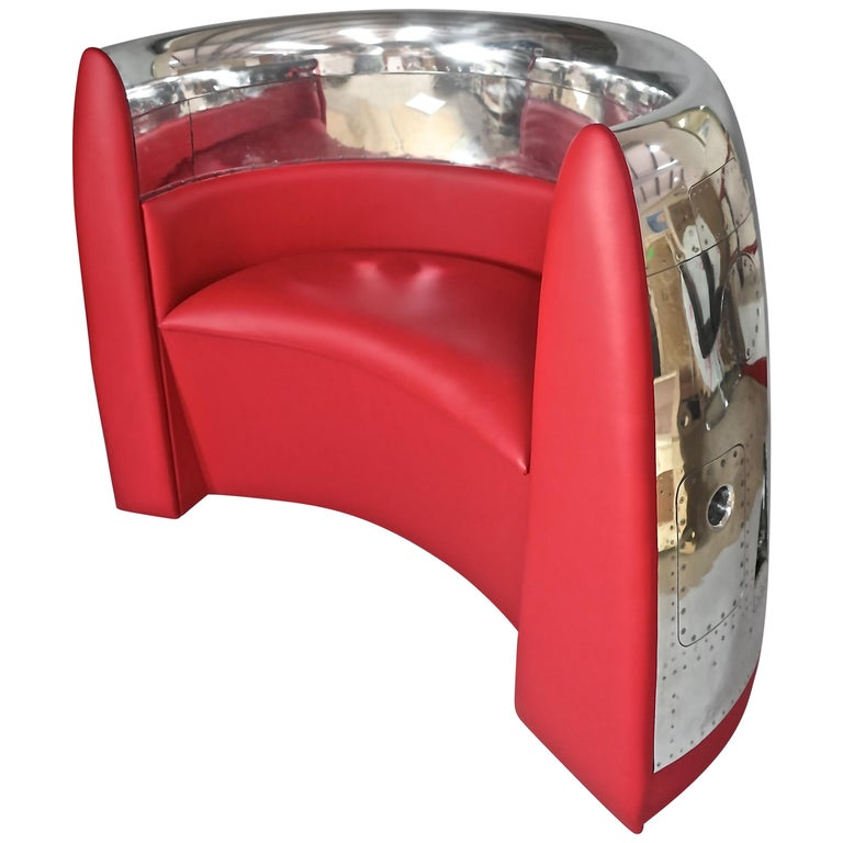 Red Jet Cowling Aircraft Chair For Sale