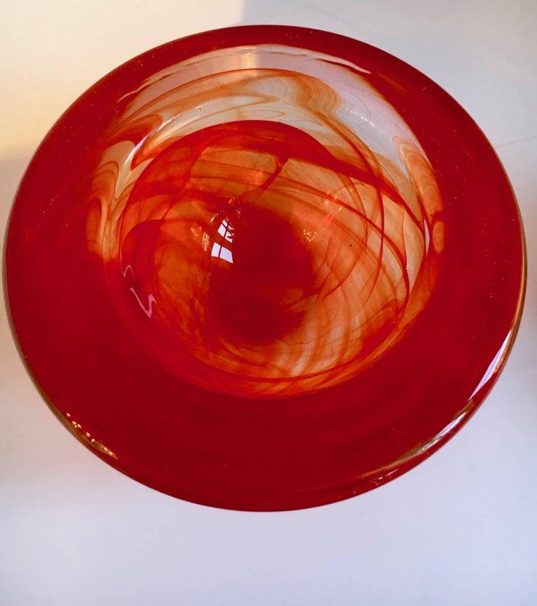 Modern Red Kosta Boda Bowl Votive by Anna Ehrner For Sale