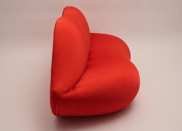 Red La Bocca Pop Art Lips Vintage Sofa Attr. to Studio 65 for Gufram Italy 1970s For Sale 6