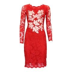Red Lace Dress XS