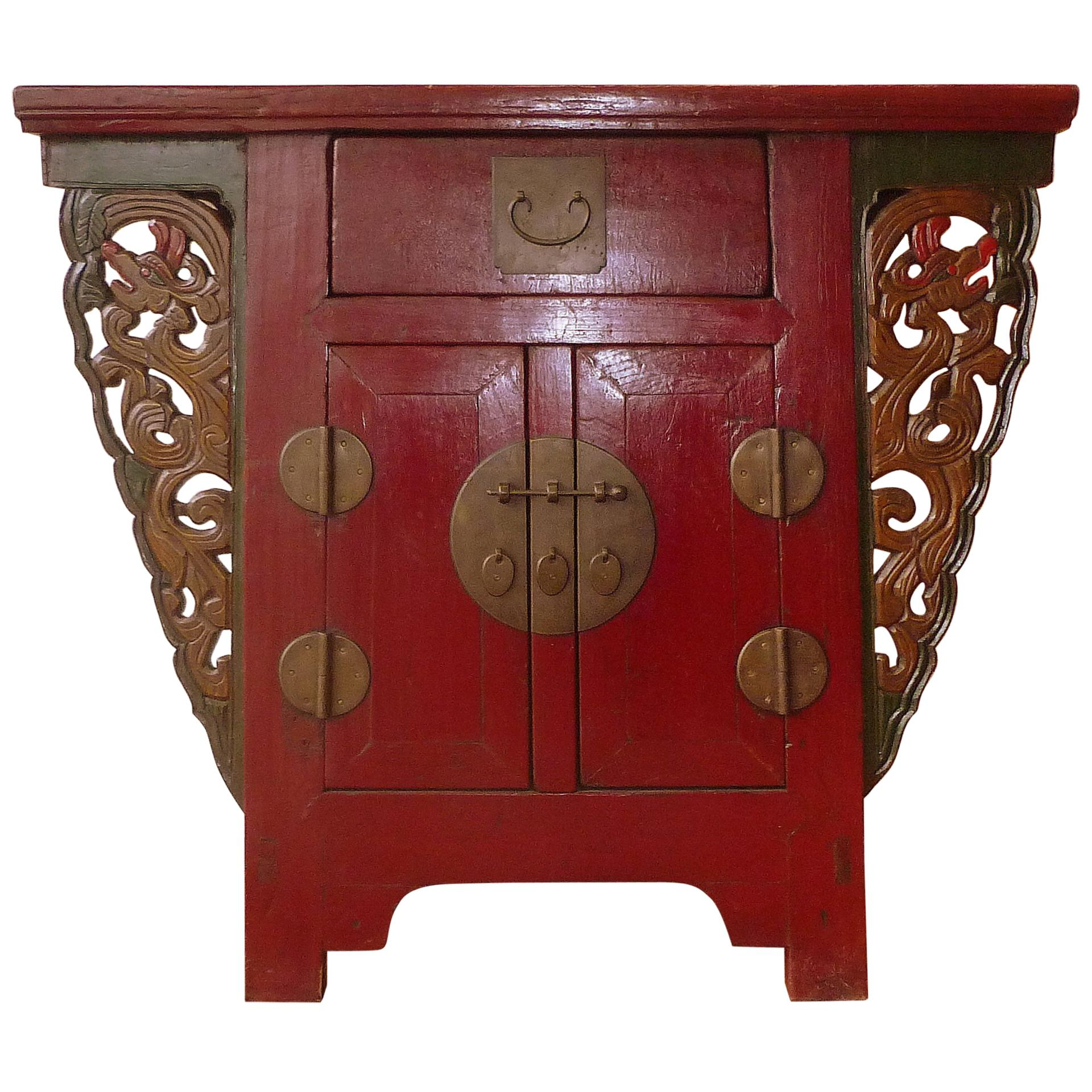 Red Lacquer Altar Coffer