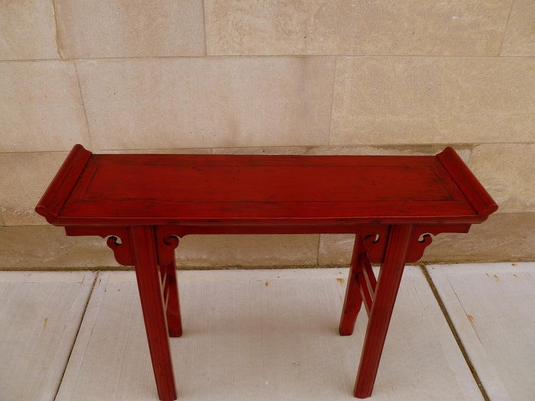 Red Lacquer Altar Table For Sale 2