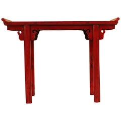 Red Lacquer Altar Table