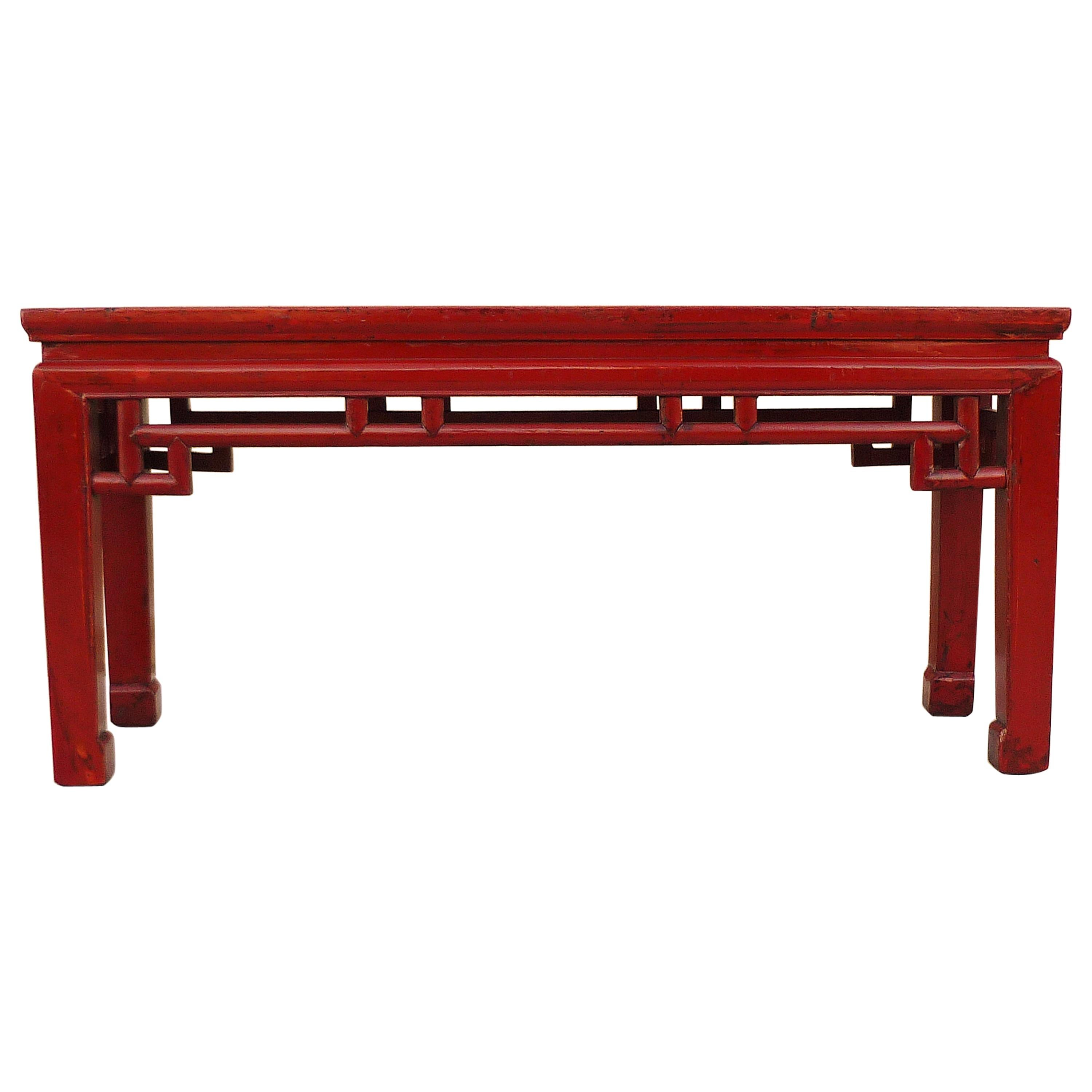 Red Lacquer Bench