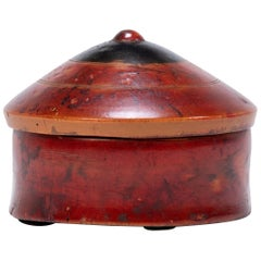 Red Lacquer Betel Box