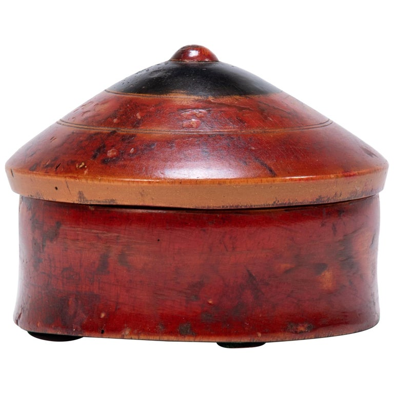 Red Lacquer Betel Box For Sale