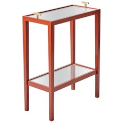"Red Lacquer ""T"" Table"