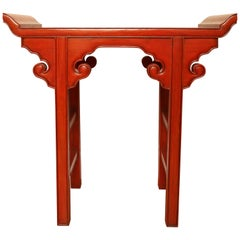 Red Lacquered Chinese Altar Table