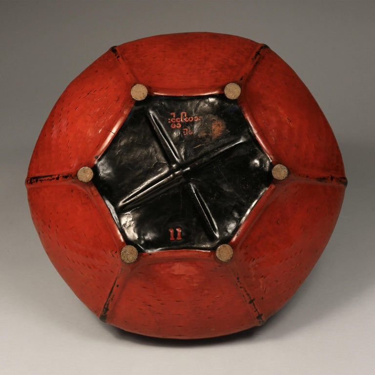 Tribal Red Lacquered Offering Bowl, Burma, Early 20th Century For Sale