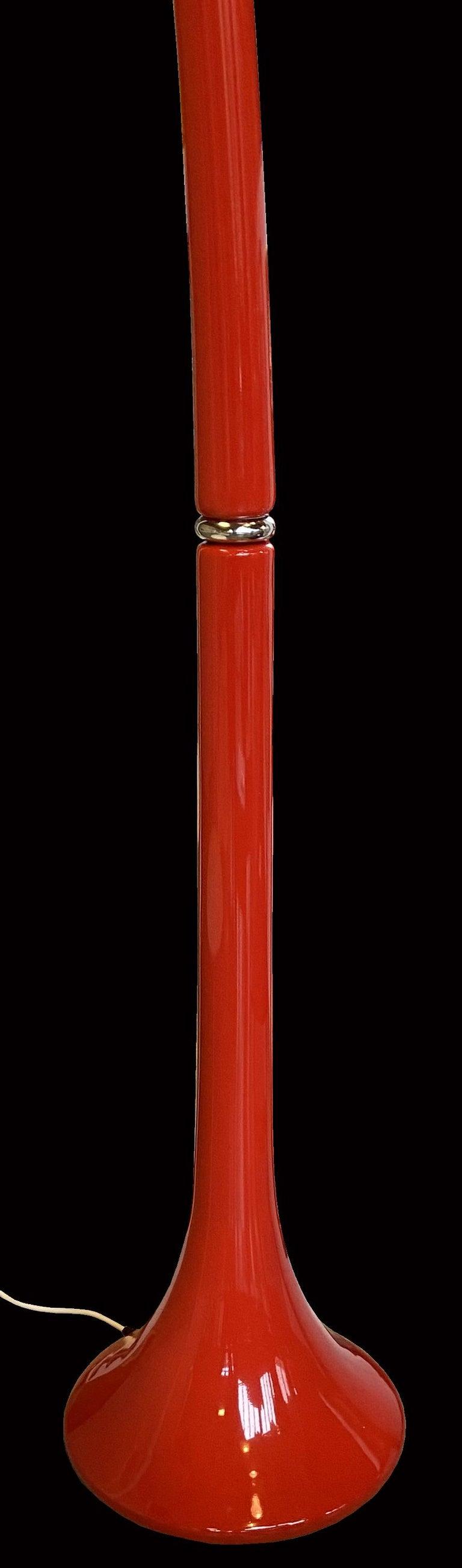 Italian Red 'Lampione' Standard Lamp by Fabio Lenci for Guzzini For Sale