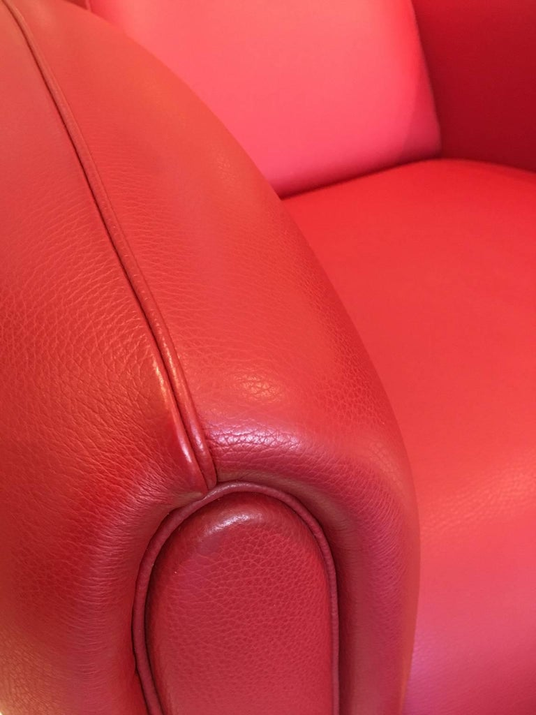 Red Leather DS-57 Bugatti Lounge Chair by De Sede In New Condition For Sale In Chicago, IL