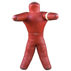 Red Leather Midcentury Wrestling Dummy