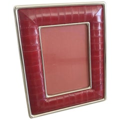 Red Leather Photo Frame by Fabio Ltd