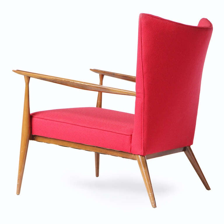American Red Lounge Chair by Paul McCobb For Sale