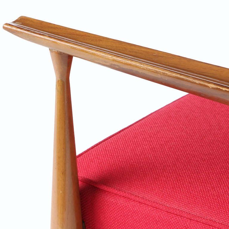 Mid-20th Century Red Lounge Chair by Paul McCobb For Sale