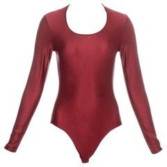 John Galliano red lycra bodysuit c.1990