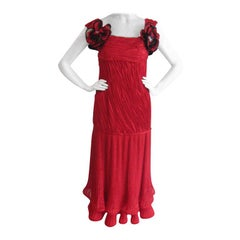 Red Maggy Reeves Flamenco Gown
