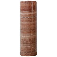 Red Marble Mid-Century Vase