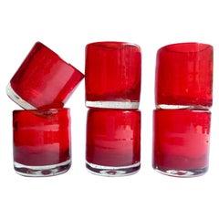 Red Mezcal Shot Glasses