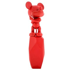 In Stock in Los Angeles, Red Mickey Mouse Rock Pop Figurine, by Arik Levy