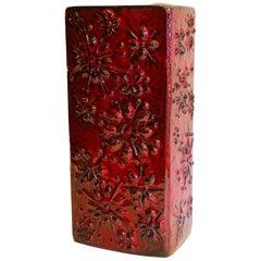 Red Midcentury Vase