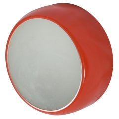 Red Midcentury Flush or Wall Mount Lamp