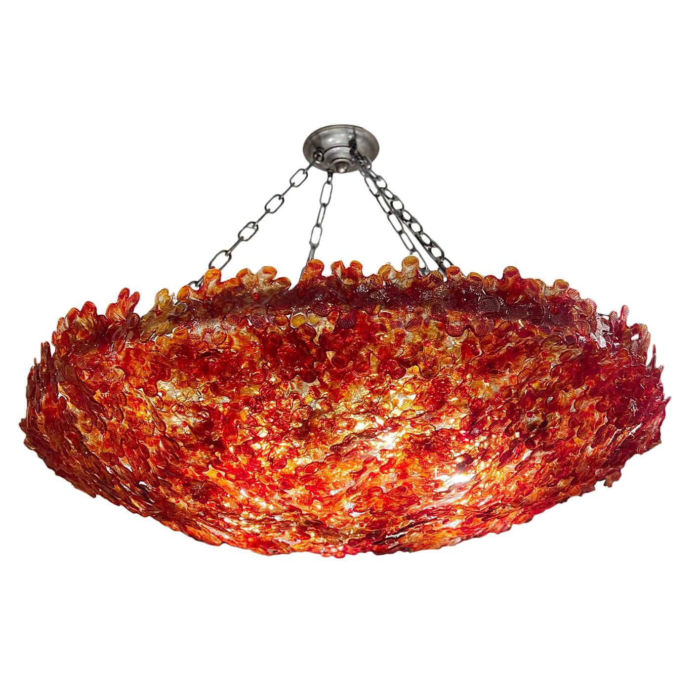Red Millefiori Light Fixture